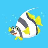 Cute angel fish cartoon. Illustration of cute angel fish cartoon Royalty Free Stock Photography