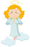 Cute angel flying in the sky Royalty Free Stock Photography
