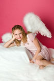 Cute Angel Girl Royalty Free Stock Image
