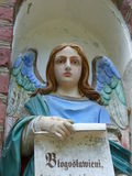 Cute angel. Little angel sculpture to illustrate or can be used as a separate image Stock Images