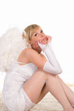 Cute angel looking Stock Images