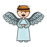 Cute angel manger character. Vector illustration design Royalty Free Stock Image