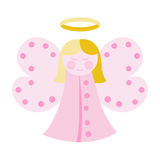 Cute angel in pink Royalty Free Stock Photography