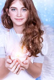Cute angel portrait Royalty Free Stock Images