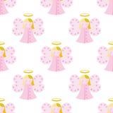 Cute Angel Seamless Pattern Stock Image