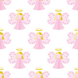 Cute angel seamless pattern Stock Image