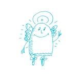 Cute angel sketch Stock Photos