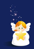 Cute angel with star Royalty Free Stock Images