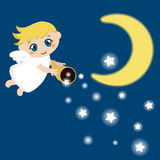 Cute angel with stars Royalty Free Stock Photo