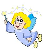 Cute angel with wand. Vector illustration Royalty Free Stock Photography