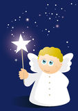 Cute angel with wand Royalty Free Stock Photo