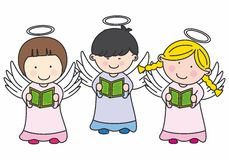 Cute Angels Royalty Free Stock Images