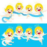 Cute Angels Flying Stock Photos