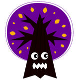 Cute Angry Halloween tree Royalty Free Stock Image