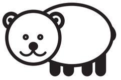 Cute animal bear - illustration Stock Photography