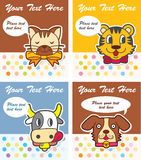 Cute animal card Stock Photography