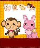Cute animal card Royalty Free Stock Photos