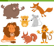 Cute animal characters set Royalty Free Stock Image