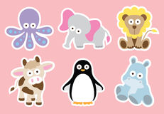 Cute Animal Collection. Illustration of cute animal characters Royalty Free Stock Photo