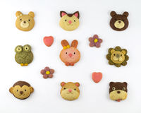 Cute animal cookies Stock Photography