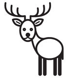 Cute animal deer - illustration Royalty Free Stock Photos