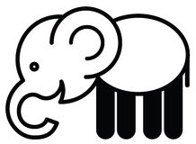 Cute animal elephant - illustration Stock Photography