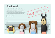 Cute animal family background with Dogs Stock Photography
