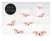 Cute animal family background with Sheep Royalty Free Stock Image
