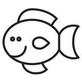 Cute animal fish - illustration Stock Photos