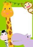 Cute animal frame Stock Photo