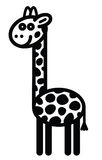 Cute animal giraffe - illustration Stock Image