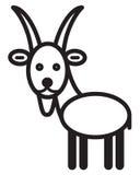 Cute animal goat - illustration Royalty Free Stock Photo