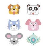Cute animal head icon Royalty Free Stock Images