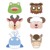 Cute animal head icon stock illustration