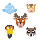 Cute animal head icon Stock Photo
