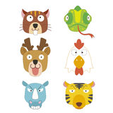 Cute animal head icon Stock Image