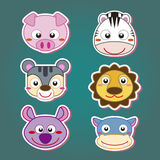cute animal head icon Royalty Free Stock Image