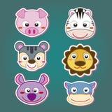 cute animal head icon Royalty Free Stock Image