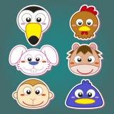 Cute animal head icon Stock Photos