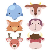 Cute animal head icon04 Royalty Free Stock Photos