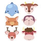 Cute Animal Head Icon04 Royalty Free Stock Photos