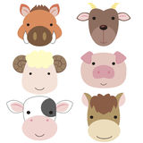 Cute animal head icon05 Stock Photo