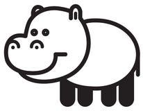 Cute animal  hippopotamus - illustration Stock Photography
