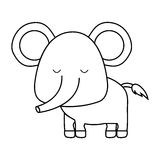 Cute animal icon image. Elephant cute animal icon image vector illustration design vector illustration