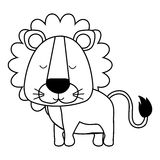 Cute animal icon image. Lion cute animal icon image vector illustration design vector illustration