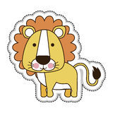 Cute animal icon image. Lion cute animal icon image vector illustration design stock illustration
