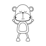Cute animal icon image. Monkey cute animal icon image vector illustration design vector illustration