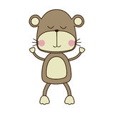 Cute animal icon image. Monkey cute animal icon image vector illustration design stock illustration