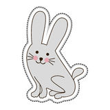 Cute animal icon image. Rabbit cute animal icon image vector illustration design royalty free illustration