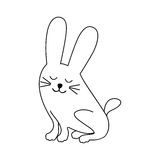 Cute animal icon image. Rabbit cute animal icon image vector illustration design stock illustration